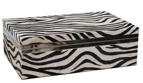 Sarreid Ltd. - Zebra Box - 26722