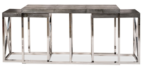 Sarreid Ltd. - Stainless Steel Nesting Console - 26727