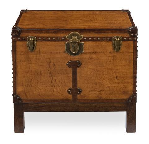 Sarreid Ltd. - Abilene Leather Box on Stand - 26734