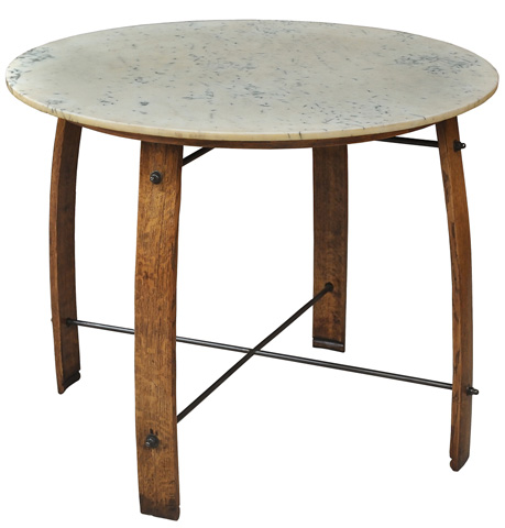 Image of Wine Barrel Staves Bistro Table