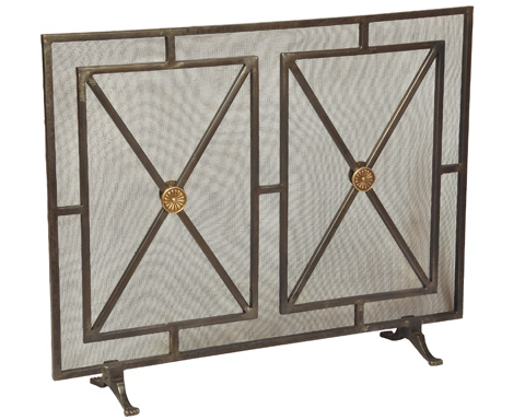 Sarreid Ltd. - Paneled Firescreen - 26796