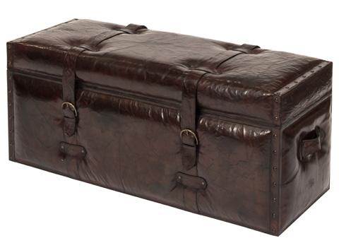Sarreid Ltd. - Laramie Leather Trunk Bench - 26852