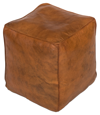 Image of Leather Cube Footrest