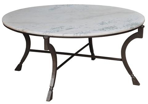 Sarreid Ltd. - White Marble Camargue Round Coffee Table - 27119