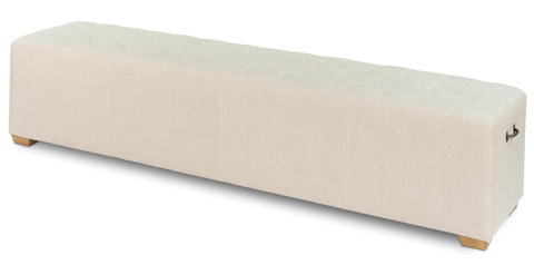 Image of The 6 Foot Bench in Tufted Linen