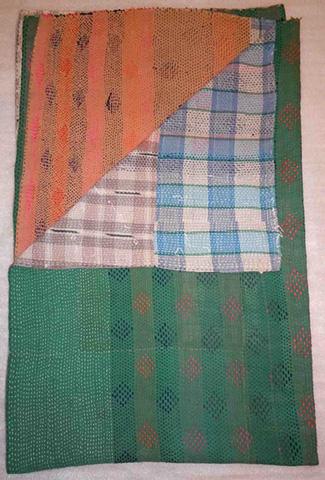 Sarreid Ltd. - Vintage Kantha Blanket - 28393