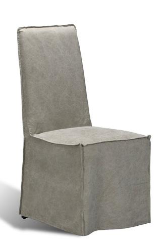 Sarreid Ltd. - Fog Canvas Basel Side Chair - 28587