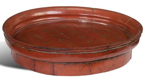 Sarreid Ltd. - Lacquered Wooden Platter - 28627