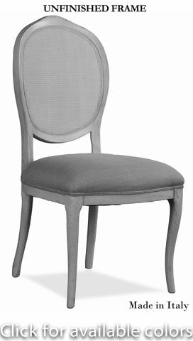 Sarreid Ltd. - Abrella Carved Oval Back Chair - R013