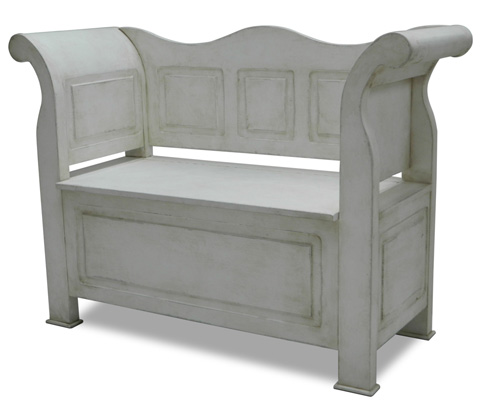Image of Washed Gray Bavarian Bench
