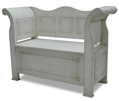Sarreid Ltd. - Washed Gray Bavarian Bench - R017-04