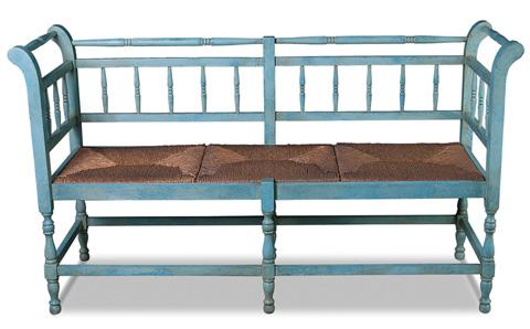 Sarreid Ltd. - Sicilian Blue Provence Bench - R029-11