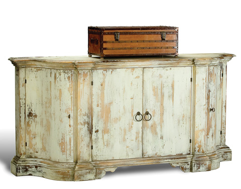 Sarreid Ltd. - Distressed Oswaldo Bowfront Sideboard - R041-16