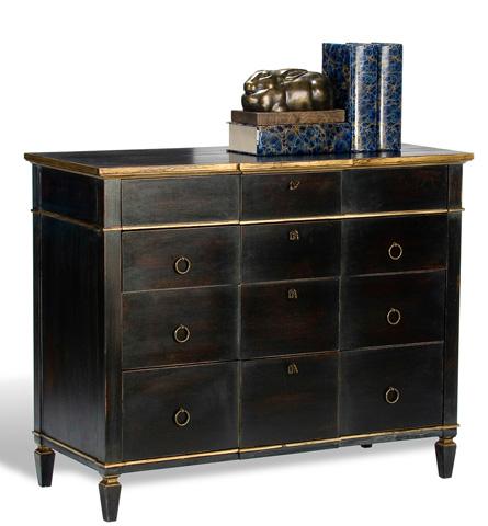 Sarreid Ltd. - Black and Gold Azzalene Single Dresser - R054-20