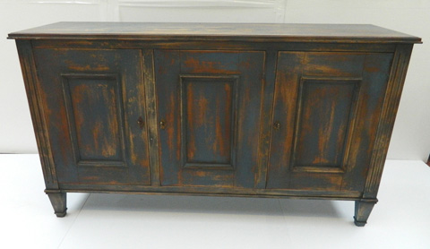 Sarreid Ltd. - Disrupted Blue Louis XVI Buffet - R059-49