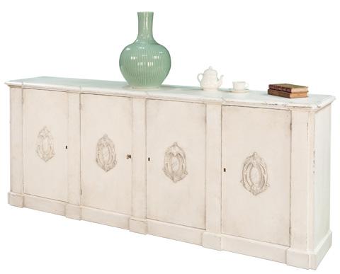 Sarreid Ltd. - White Italian Wall Cabinet - R110-37