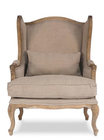 Sarreid Ltd. - Oak Frame Lounge Wing Chair - 29151