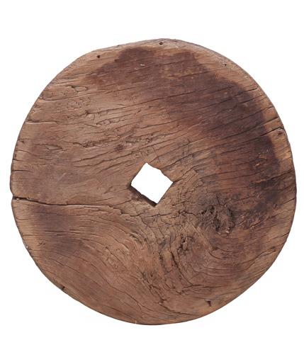 Sarreid Ltd. - Gansu Wooden Wheel C.1920 - 29703