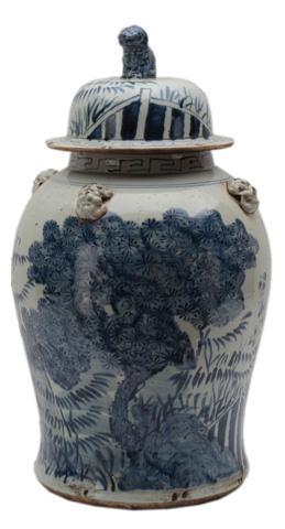 Sarreid Ltd. - Large Tree Ceramic Vessel - 29712