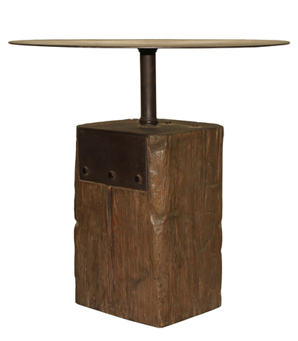 Sarreid Ltd. - Square Foot Beam Table - 29789