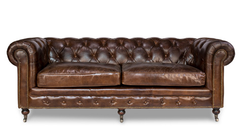 Image of Castered Chesterfield Sofa