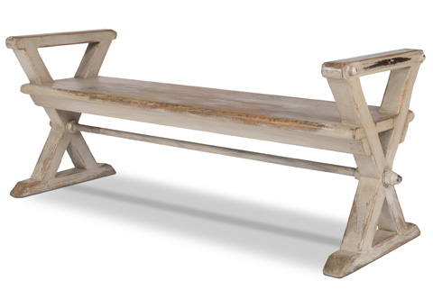 Sarreid Ltd. - Replica Antique X Bench - 30119