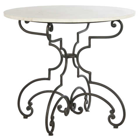 Sarreid Ltd. - The French Iron And Marble Table - 30139