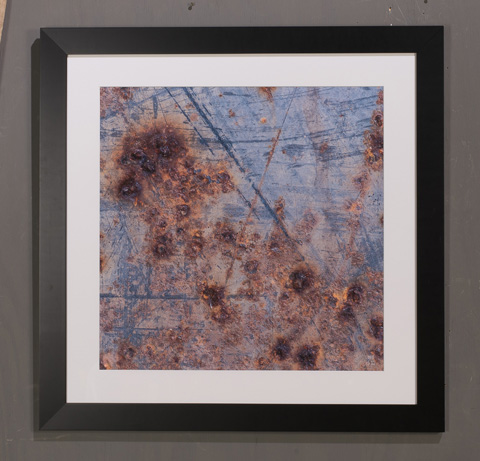 Sarreid Ltd. - Rusted Blue Paint Giclee Print - 30195