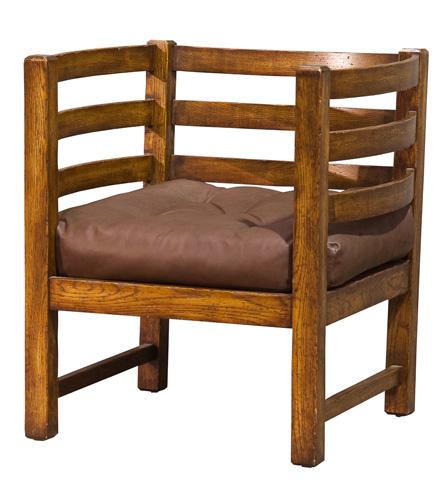 Sarreid Ltd. - Ars-Barrel Slat Chair - OKLV170
