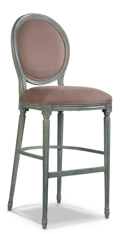 Sarreid Ltd. - Louis XVI Round Back Barstool - R089-02F02