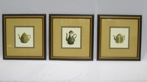 Sarreid Ltd. - Set Of 3 Framed Art Pitchers - SFV447CH