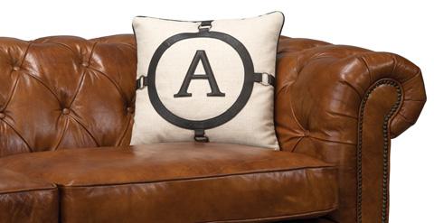 Sarreid Ltd. - The A Pillow in Black - 28908