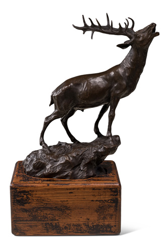 Sarreid Ltd. - Bugling Elk On Wood Mount - 29872