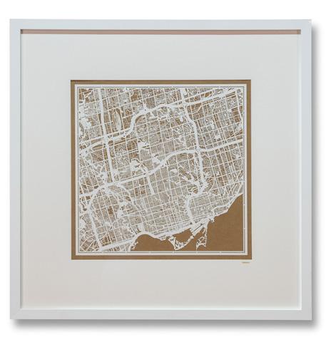 Sarreid Ltd. - Large Toronto Framed Map - 30373
