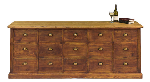 Sarreid Ltd. - 19th Century Large Chest Of Drawers - 30498