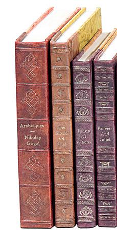 Sarreid Ltd. - Leather Decorative Faux Books-Set of 25 - 30910