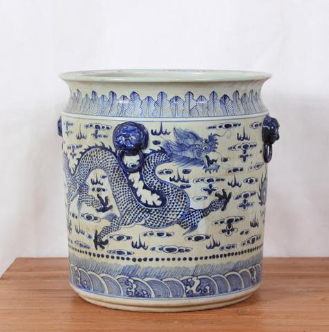 Sarreid Ltd. - Large Handpainted Flower Pot - SA-AN036