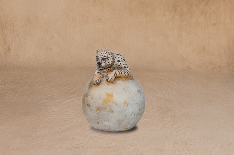Sarreid Ltd. - Animal Sphere with Leopard - SFV644LS