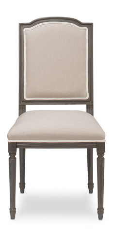 Sarreid Ltd. - Louis XVI Squared Dining Side Chair - U015-05F01