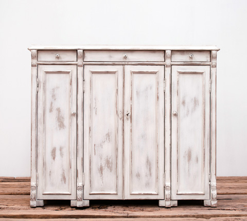 Image of White Swan Tall Cabinet