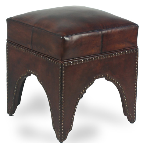 Image of Leather Footstool