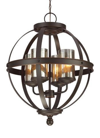 Sea Gull Lighting - Four Light Chandelier - 3110404BLE-715
