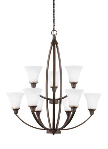 Sea Gull Lighting - Nine Light Chandelier - 3113209-715