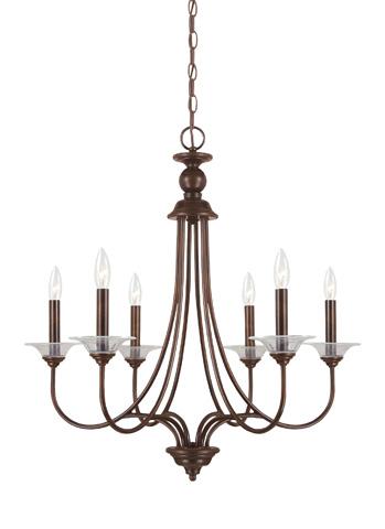 Sea Gull Lighting - Six Light Chandelier - 31318-710