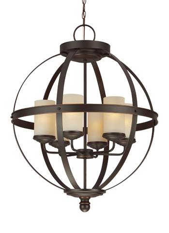 Sea Gull Lighting - Six Light Chandelier - 3190406BLE-715