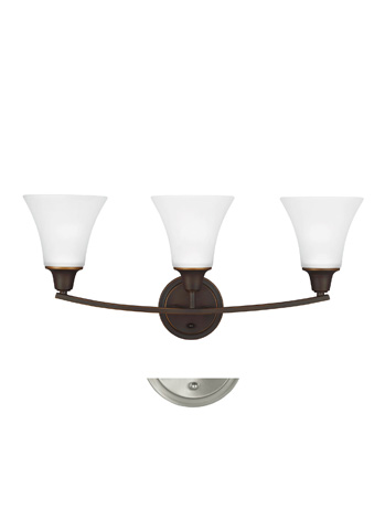Sea Gull Lighting - Three Light Wall / Bath Sconce - 4413203-715