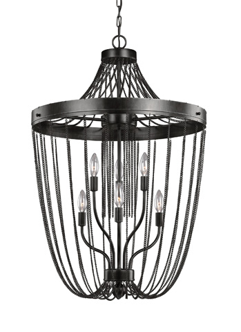 Sea Gull Lighting - Six Light Foyer Pendant - 5110106-846