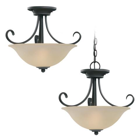 Sea Gull Lighting - Two Light Semi-Flush Convertible Pendant - 51120-820