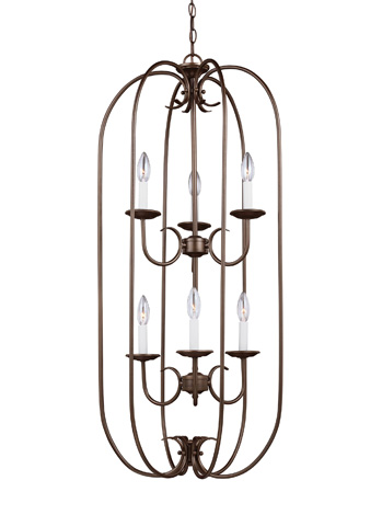 Sea Gull Lighting - Six Light Hall / Foyer Pendant - 51807-827