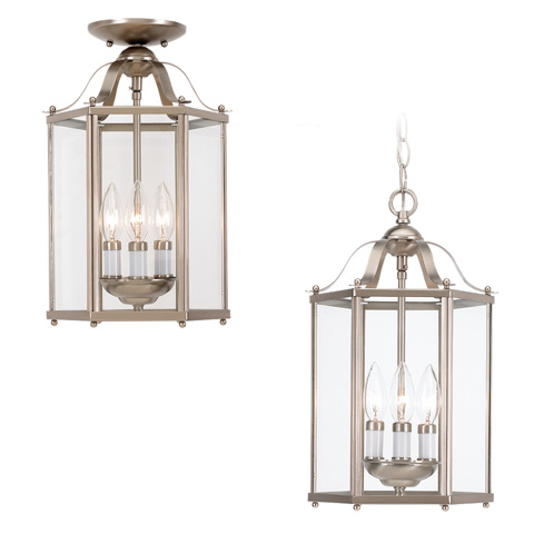 Sea Gull Lighting - Three Light Semi-Flush Convertible Pendant - 5231-962
